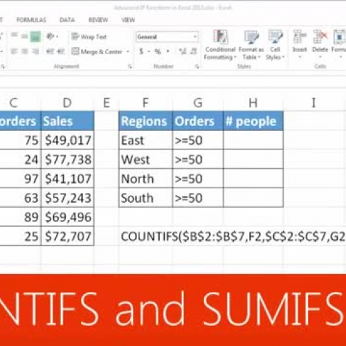 COUNTIFS and SUMIFS