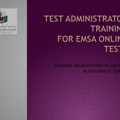 EMSA Online 2016 TA training - Eng