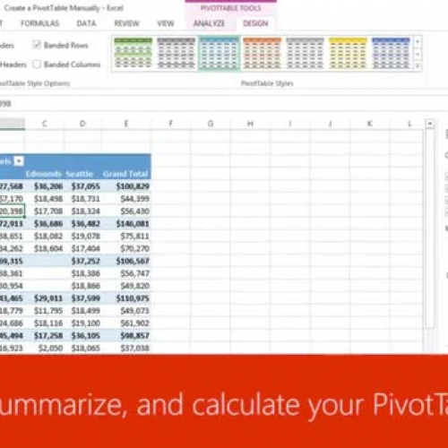 Sort, filter, summarize, and calculate your PivotTable data