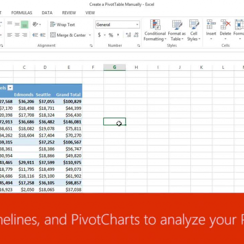Use slicers, timelines, and PivotCharts to analyze your PivotTable data