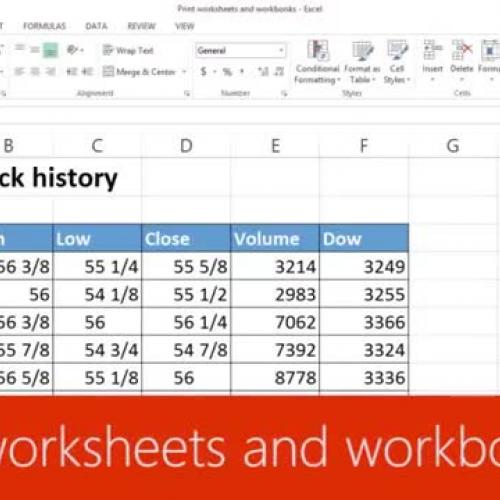 Print worksheets and workbooks
