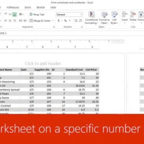 Print a worksheet on a specific number of pages