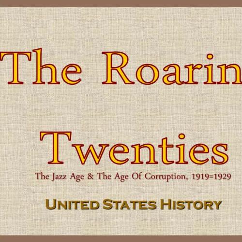 1920s Lecture Part #3