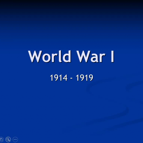 WWI Lecture Part #1