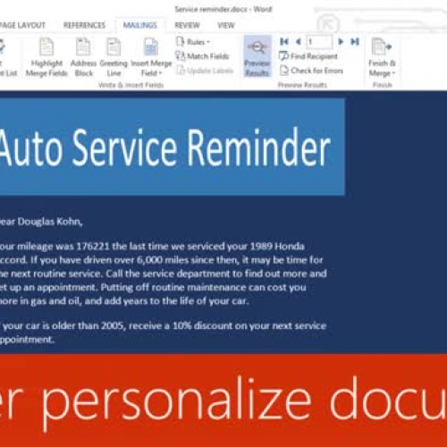 Further personalize documents