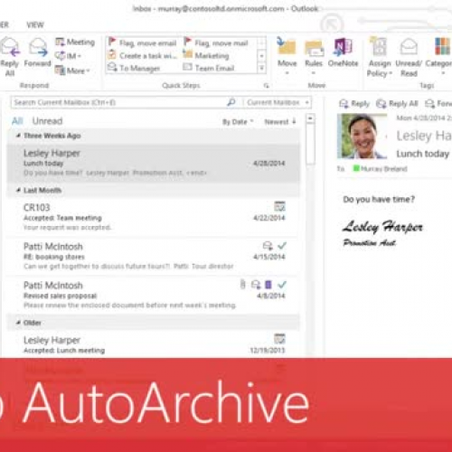 Set up AutoArchive