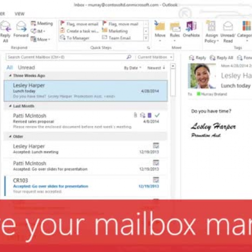 Archive your mailbox manually