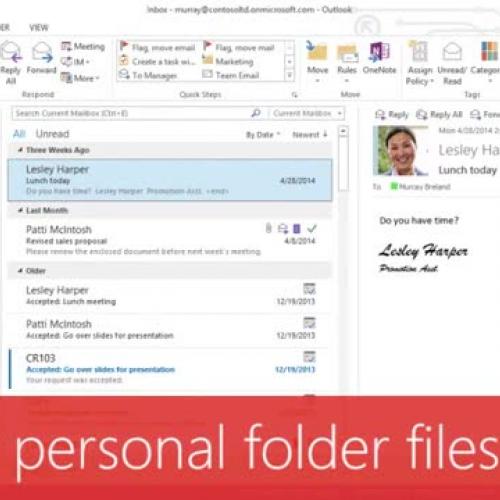 Repair personal folder files (PST)