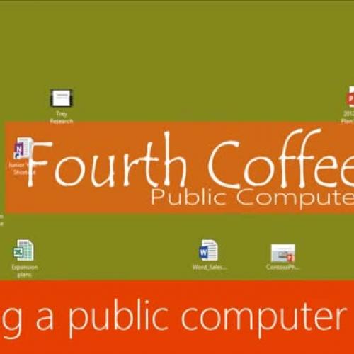 Sharing a public computer