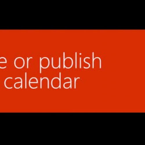 Share or publish your Office 365 calendar