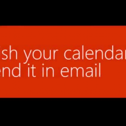 Publish your Office 365 calendar or send it in email