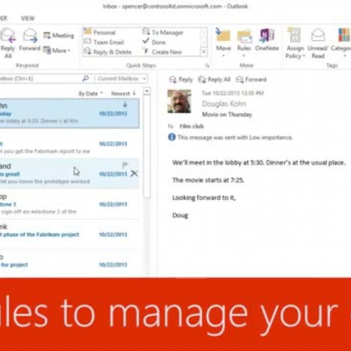 Use rules to manage your email