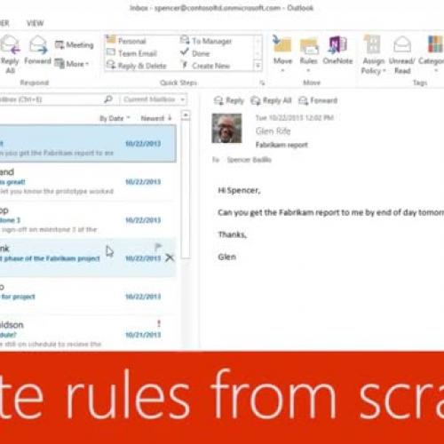 Create rules from scratch