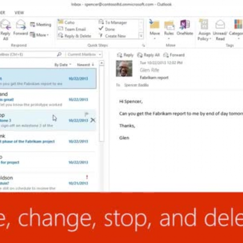 Manage, change, stop, and delete rules