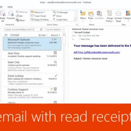 Track email with read receipts
