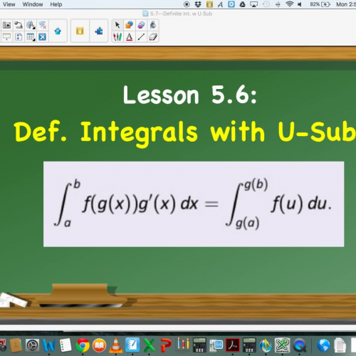 Lesson 5.6: Definite Integrals with U-Substitution