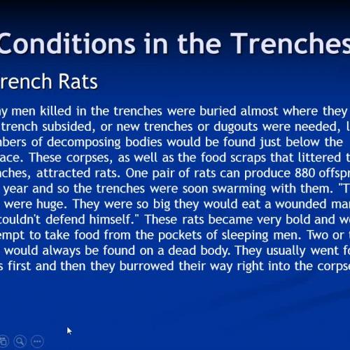WWI Lecture Part #2