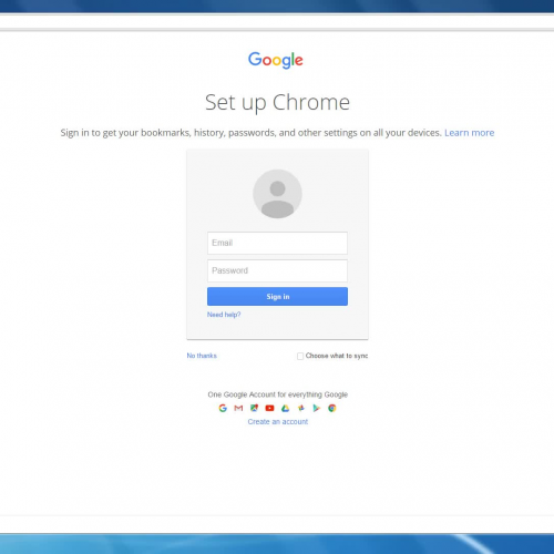 Signing into Google Chrome