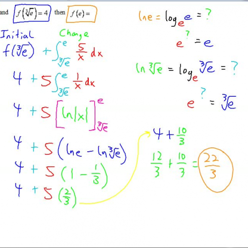 AP Calculus Notes Integration involving the Natural Logarithm