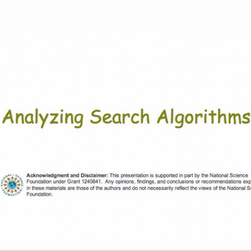 Analyzing Search Algorithms