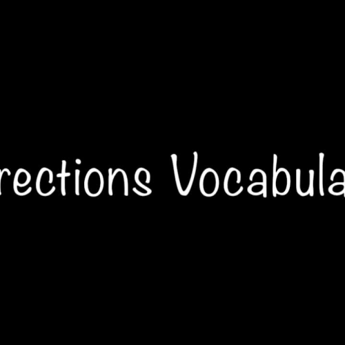 Direction Vocabulary