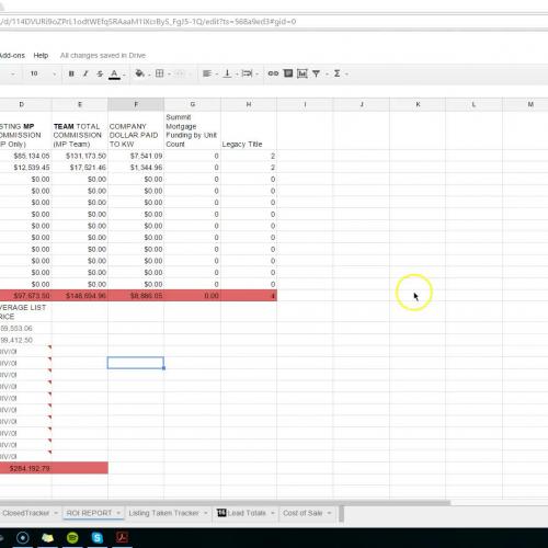 ROI & CTE Trackers-Entering Listings