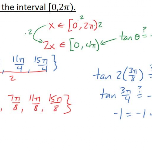 Pre-Calc @ Harrison: Trig Equations with Multiple Angles