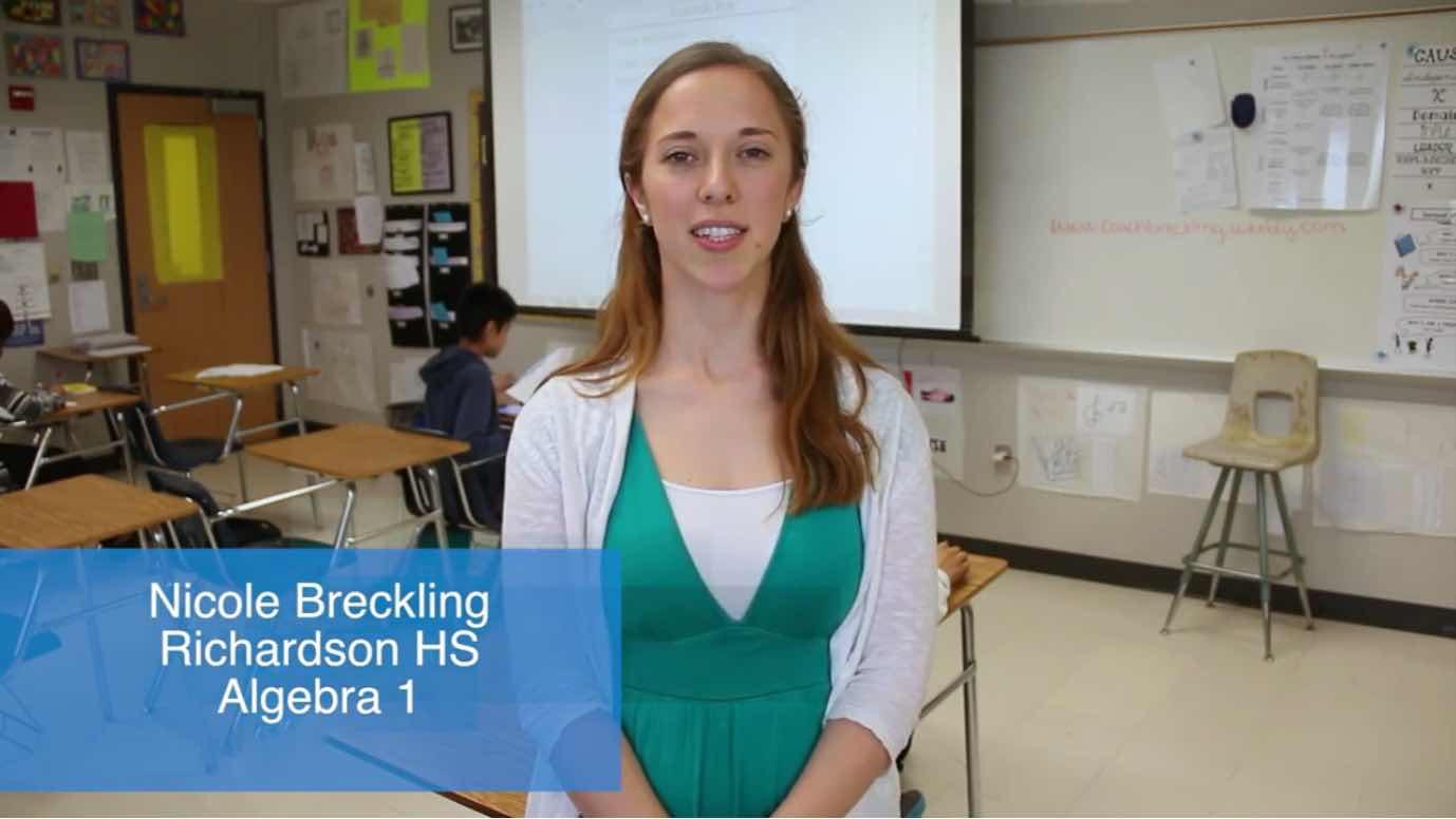 Nicole Breckling, Richardson High School, Testimonial
