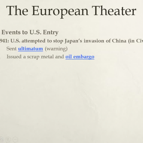 WWII European Theater Lecture Part 2