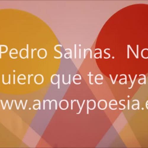 Pedro Salinas., Spanish poetry