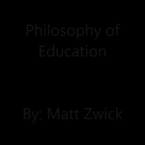 Philosophy of Education Video