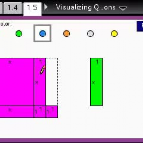 Visualizing Quadratic Expressions [TI Building Concepts Preview Video]
