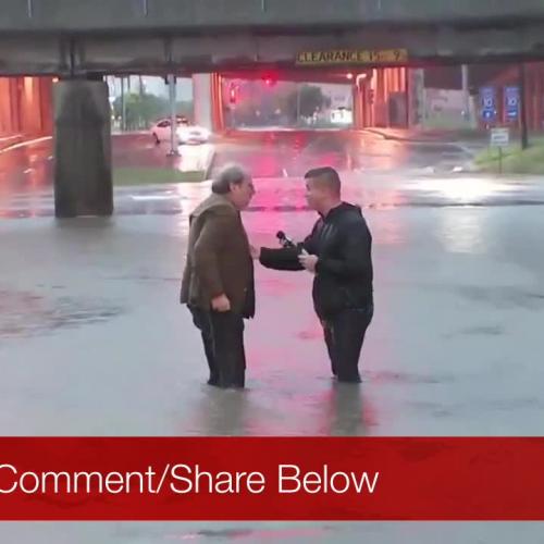 Houston Reporter Saves Older Man's Life In Flood