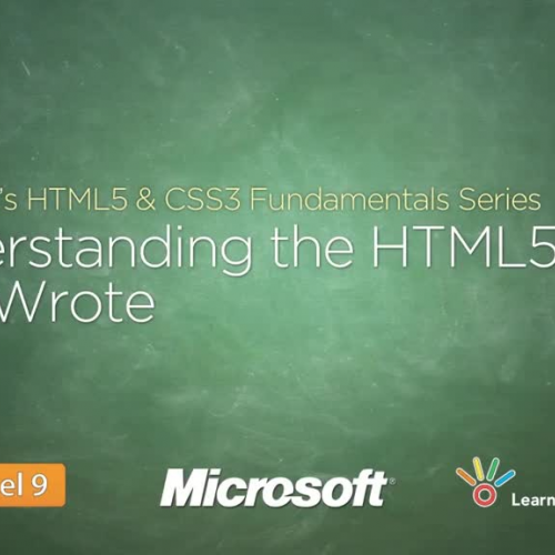 Understanding  the  HTML5  You  Wrote
