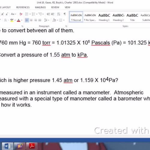 Pressure and Manometer