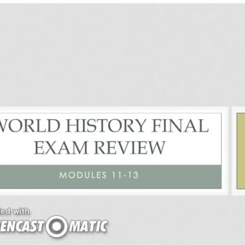 WH Module 11-13 Review