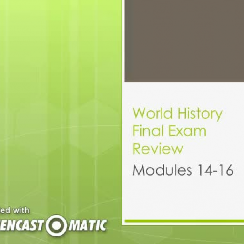 WH Modules 14-16 Reivew