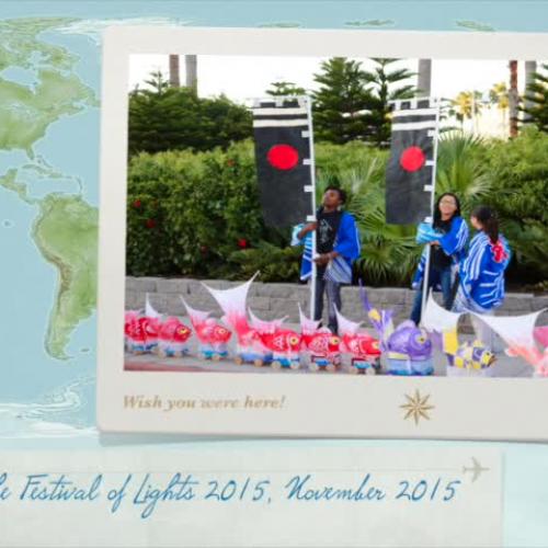 Taiguruma on Display at the Festival of Lights in Galveston 2015