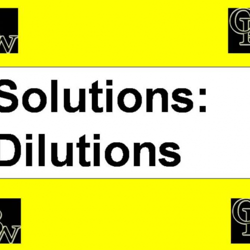 Dilution Notes Video