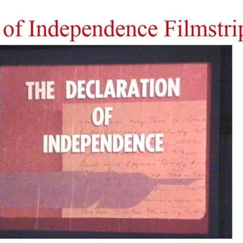 Declaration Filmstrip - 50 Years Old!