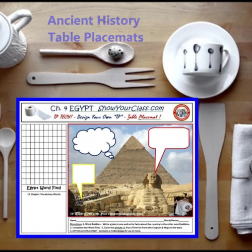 Ancient History Table Placemats