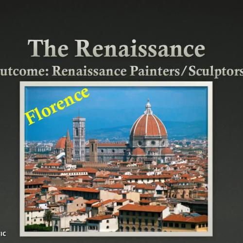 Renaissance Sculptors & Painters