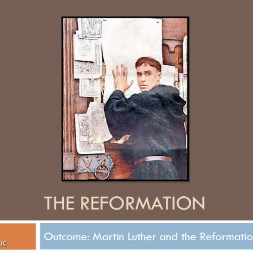 Martin Luther & Reformation Lecture