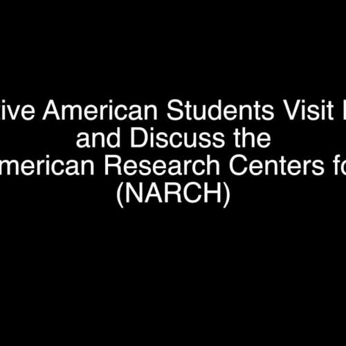 Native American Students Visit NIH, Discuss Native American Research Centers for Health Program