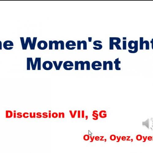 7G: Women's Rights