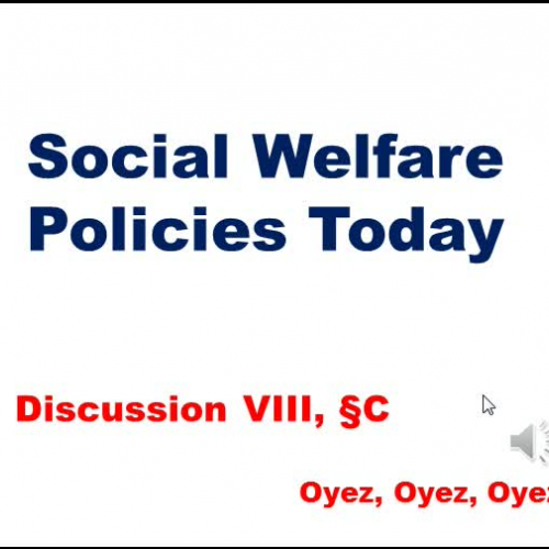 8C: Social Welfare Policy Today