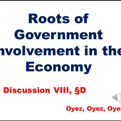 8D: Roots of Government Involvement in the Economy