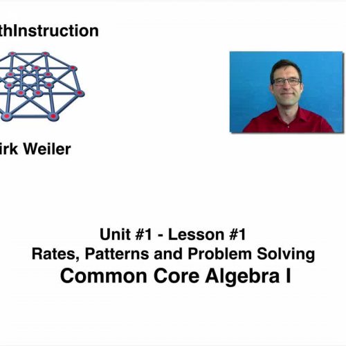Common Core Algebra I.Unit1.Lesson1.Rates, Patterns, and Problem Solving.By eMathInstruction