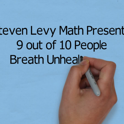 9 ouot of 10 people breath bad air