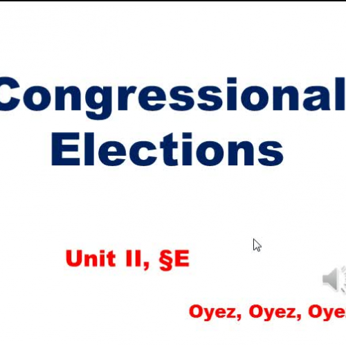 2E: Congressional Elections